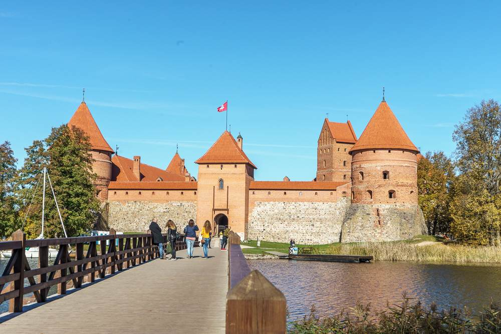 Trakai Castle is one of the most important sights in Lithuania.