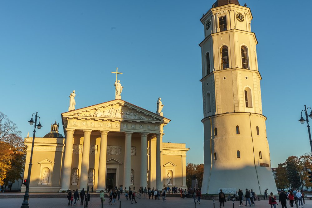 Vilnius Cathedral is one of the most important churches in Lithuania.