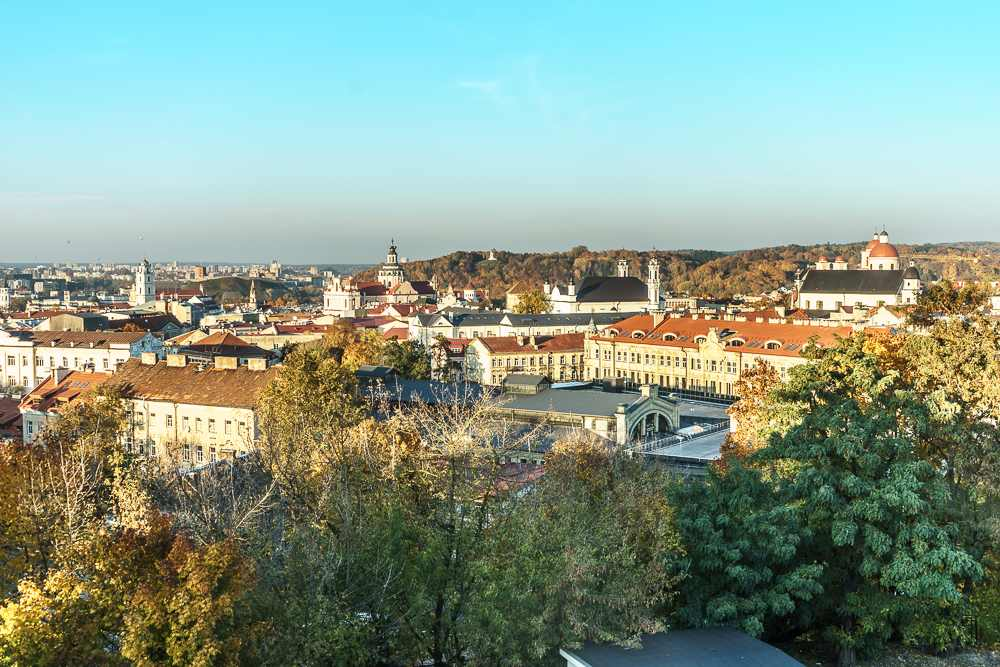 A panorama of Vilnius on an autumn day.