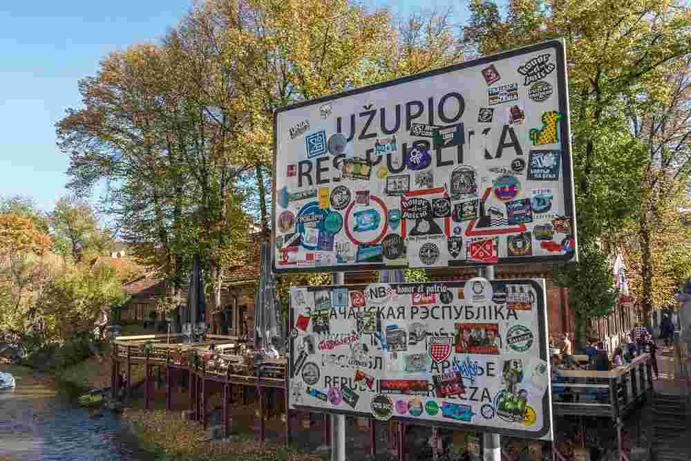A visit to the alternative Republic of Uzupis is a must-do in Vilnius.