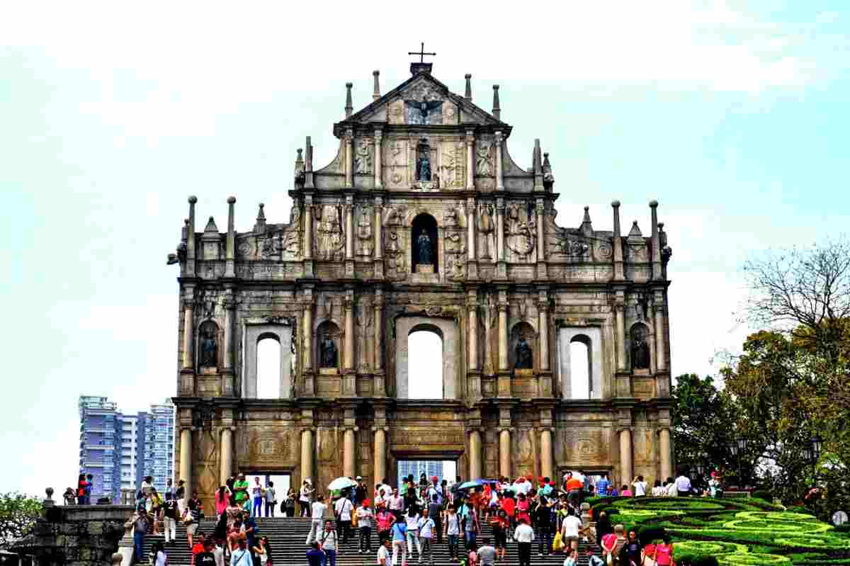 Portuguese Colonial architecture in Macau, China.