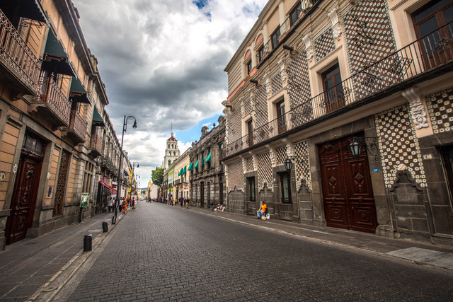One of the best places to see Spanish Colonial architecture is Puebla, Mexico.