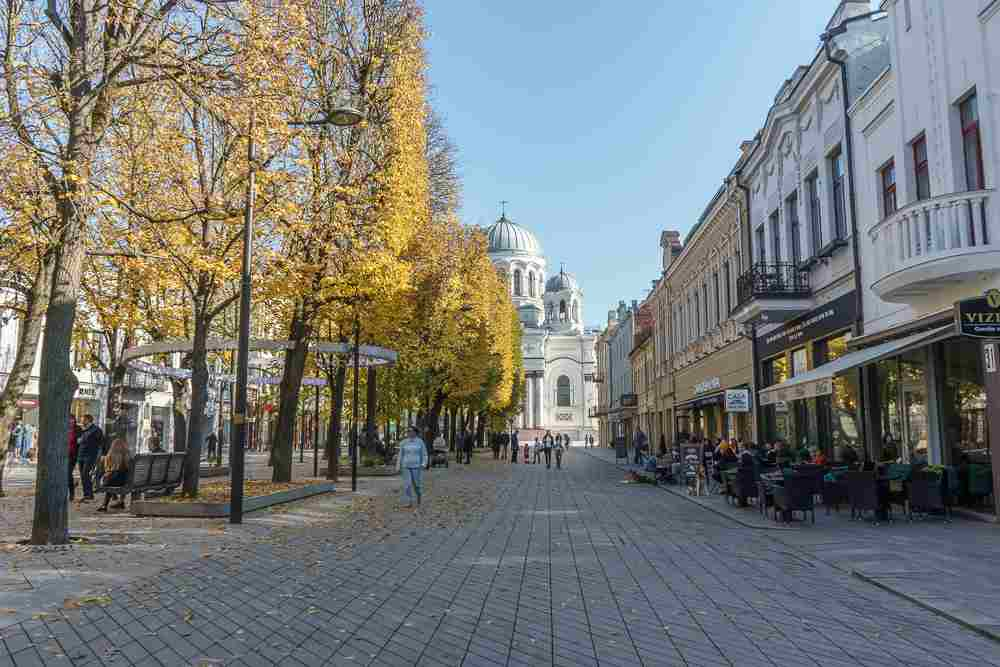 Shopping on Freedom Avenue is one of the top things to do in Kaunas.