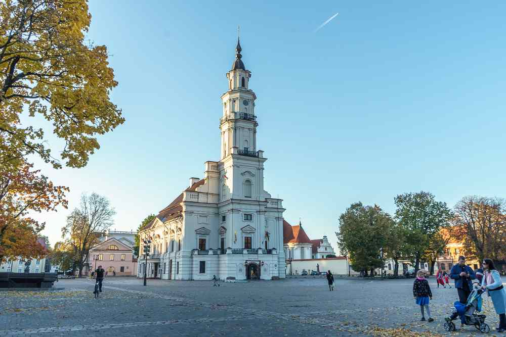 Kaunas town hall is one of the main sights in Kaunas.