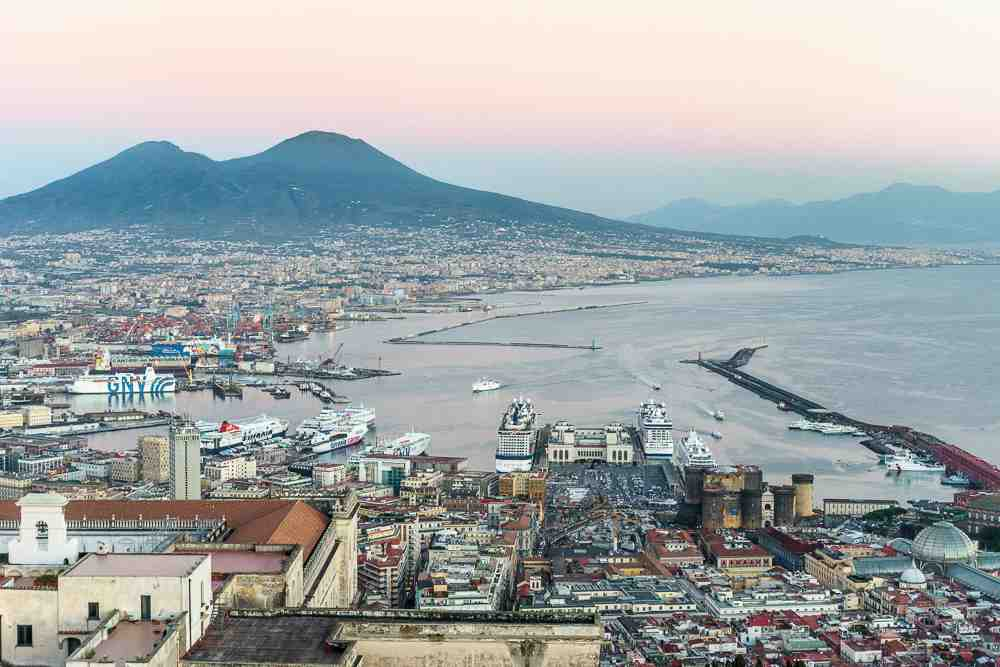 You'll get the best view of Naples from Castel Sant Elmo just before sunset.