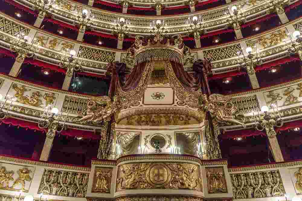 The Naples opera is one of the city's mos exquisite buildings.