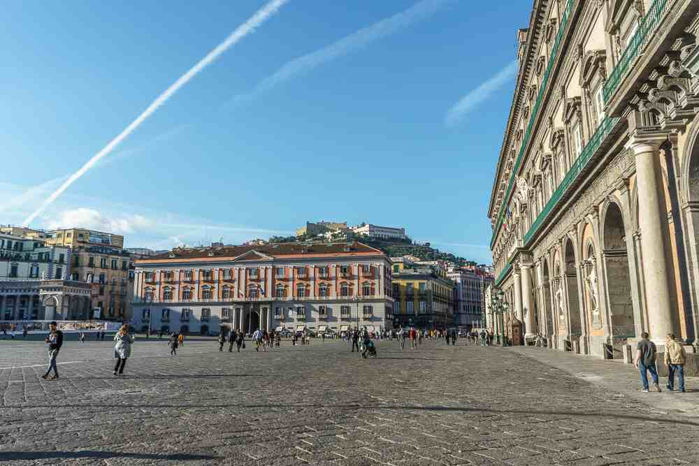 Piazza del Plebescito is one of the must-sees in Naples.