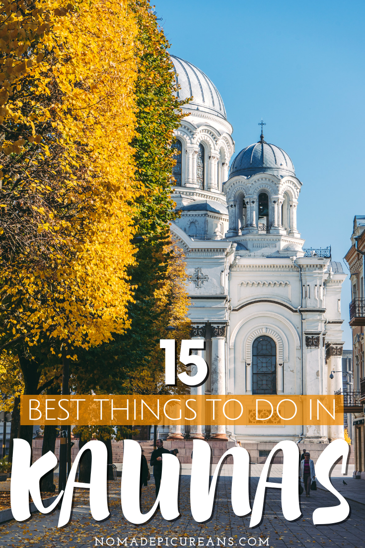 Not sure what to do in Kaunas, Lithuania? Check out our list of the best 15 things to do in Kaunas to satisfy your culture, art, and shopping needs! #travel #lithuania