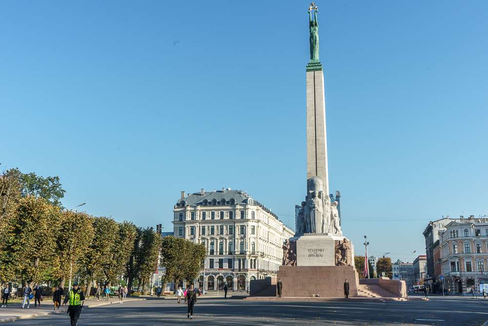 The Freedom Monument is a sight you certainly can't miss when you visit Riga.