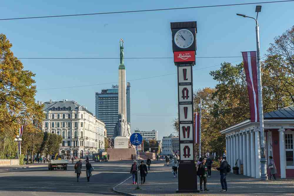 The Laima clock is one of Riga's sweetest attractions.