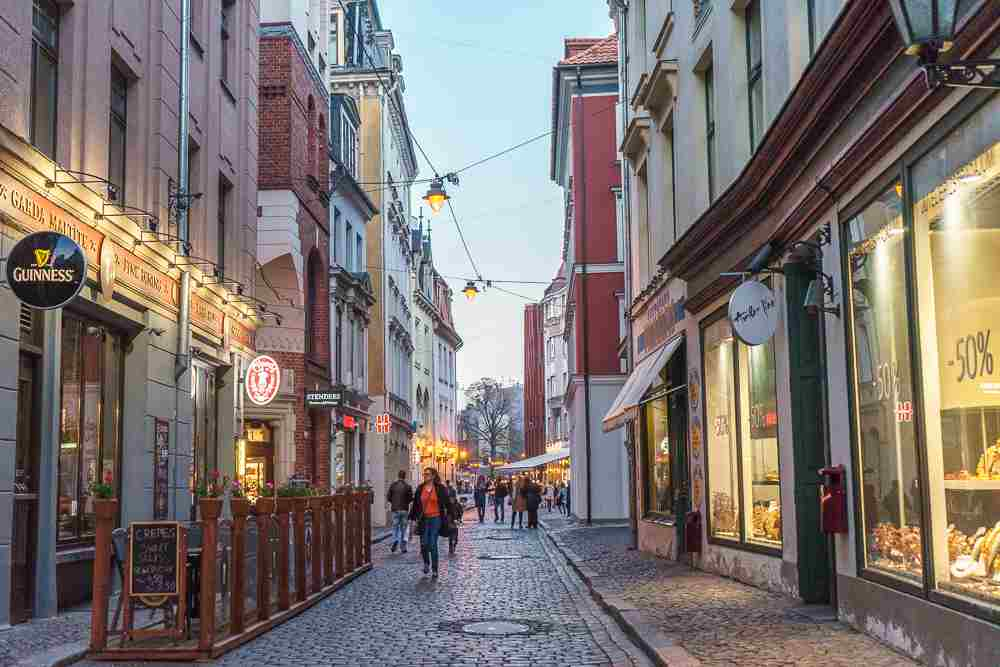 There are plenty of bars and cafes in Riga, particularly in Riga's old town.