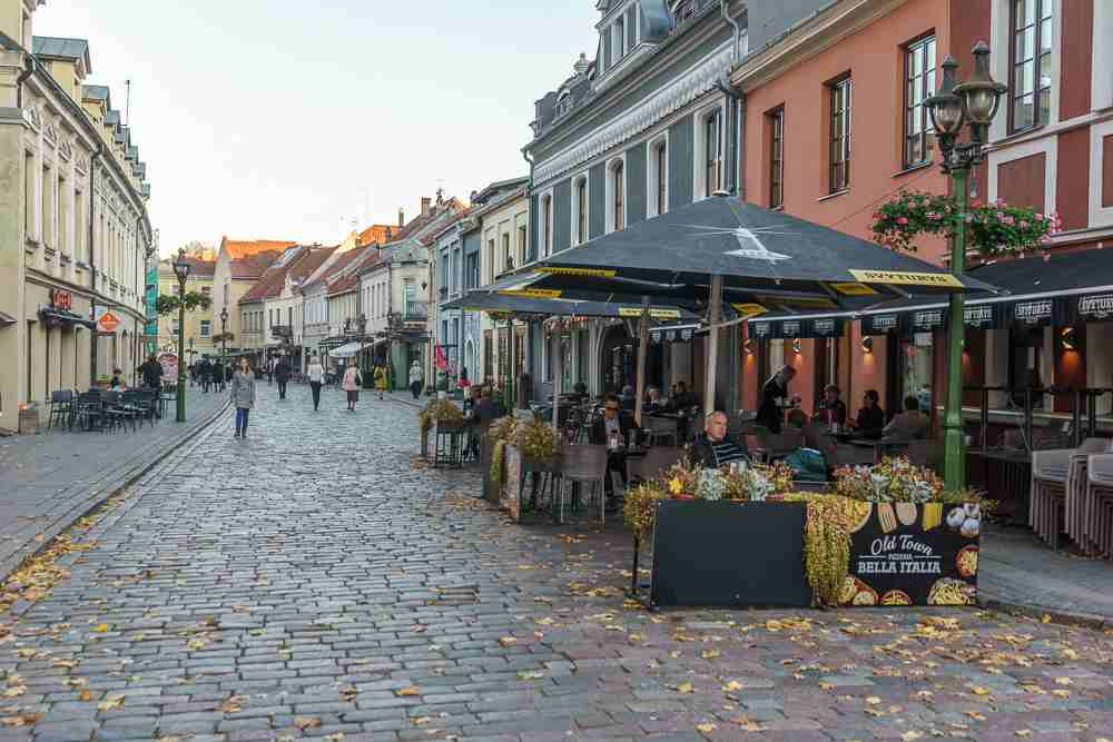 Strolling along Vilnius Street is one of the best things to do in Kaunas.