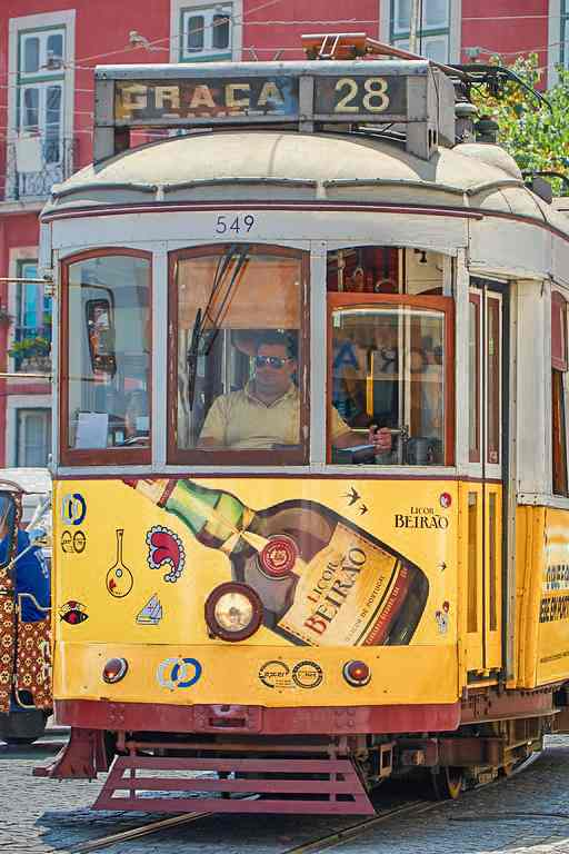 Cap off your one day in Lisbon with a ride on the iconic Tram 28.