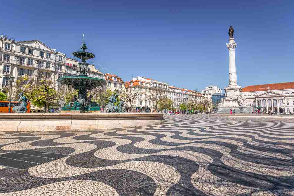 Rossio Square is a must-see during your one day in Lisbon.