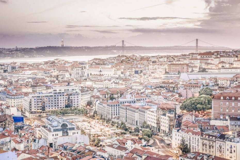 3 Days in Lisbon: Panoramic view of central Lisbon in the evening