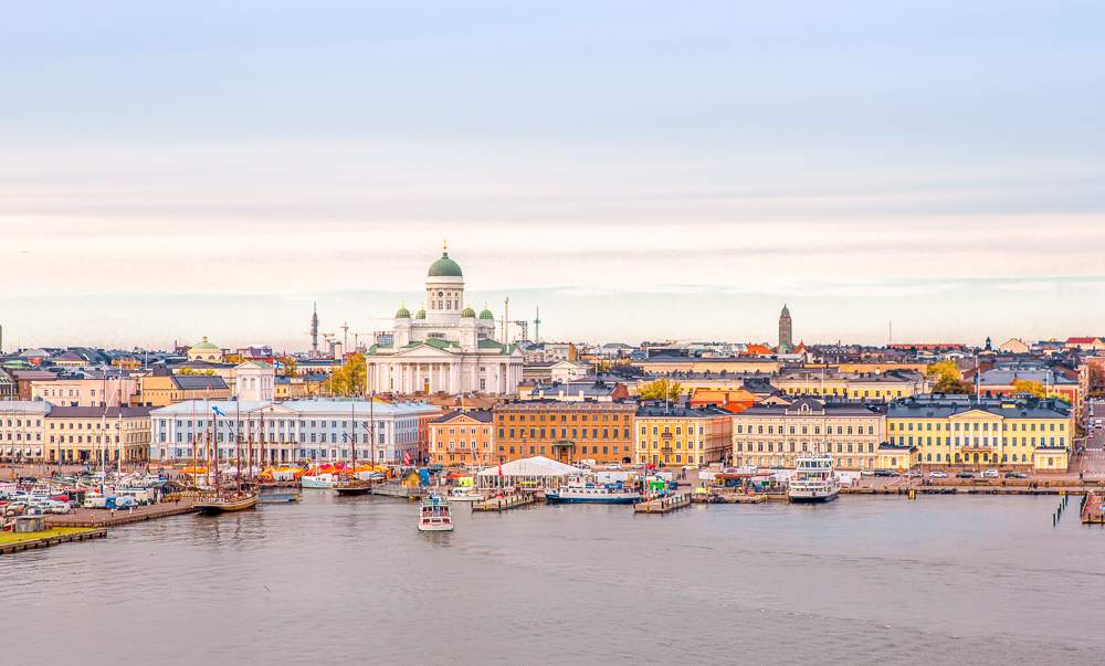 Seeing the Helsinki cityscape is one of the best things to do when spending a weekend in Helsinki.