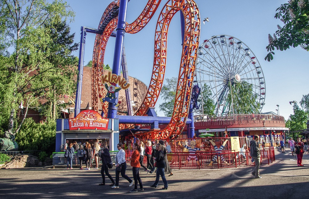 Things to do in Helsinki: A visit to the awesome Linnanmäki Amusement Park is one of the best things to do when spending a long weekend in Helsinki. C: gokhanadiller/shutterstock.com