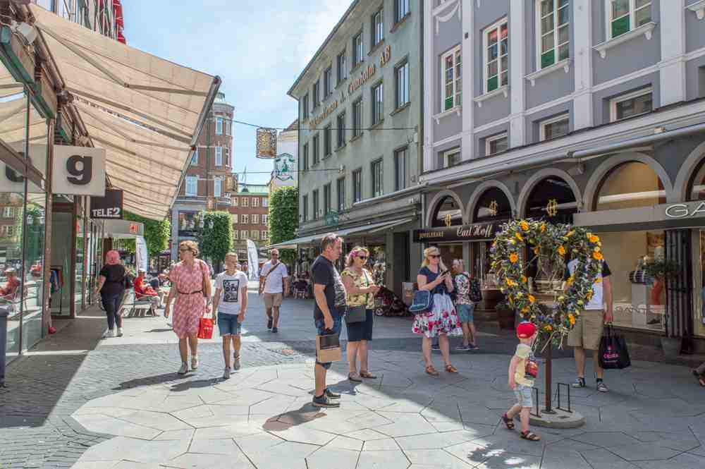 Go shopping in Helsingborg on a day trip from Copenhagen.