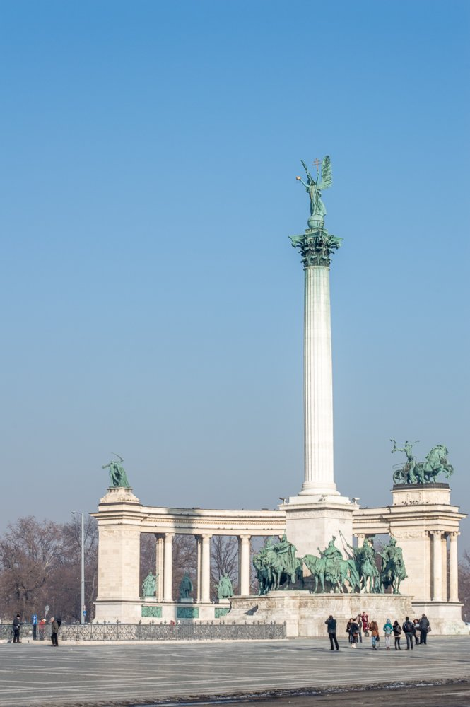 Heroes' Square is one of the best things to do during one day in Budapest.