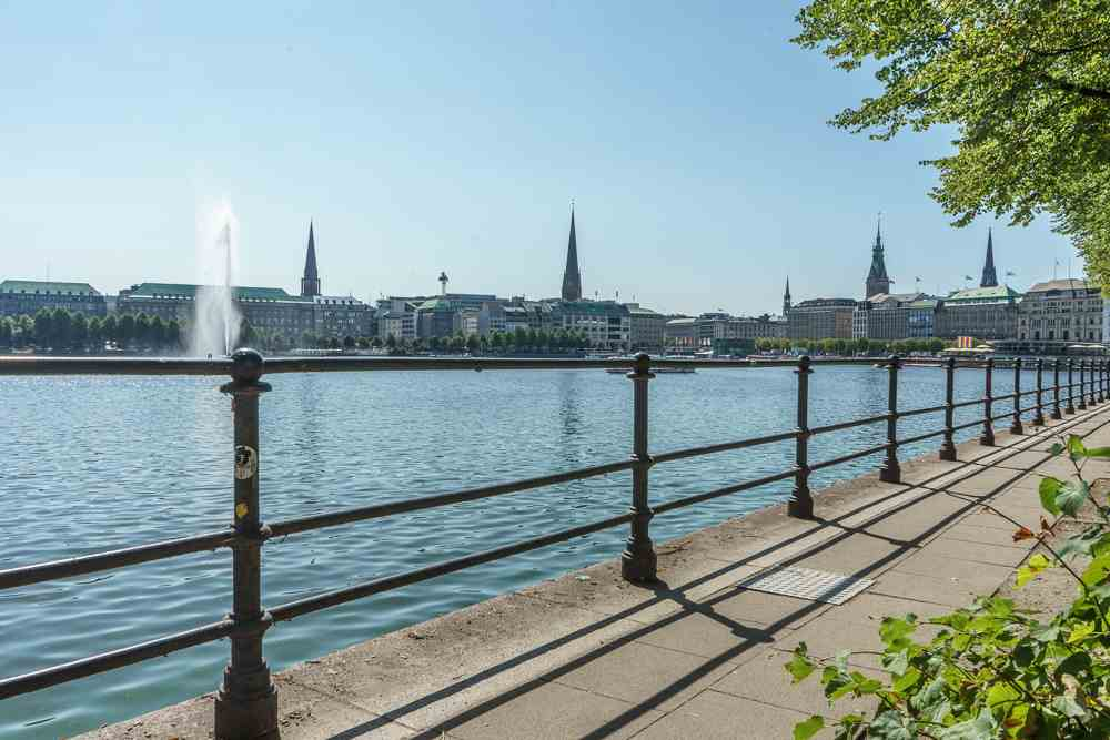 Relax by the water during your 24 hours in Hamburg.