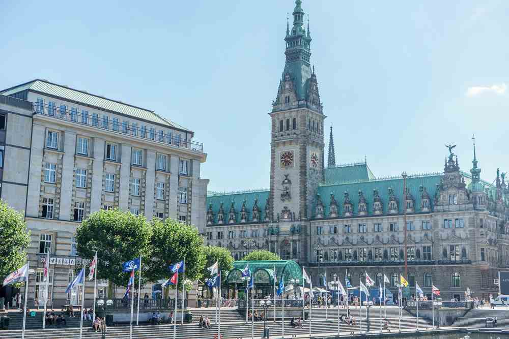 City hall is one of the best things to see in Hamburg in one day.