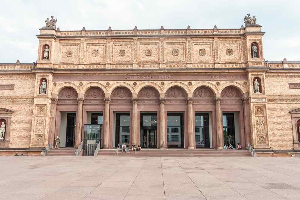 On a rainy day, make sure to stop by the famous Kunsthalle in Hamburg.