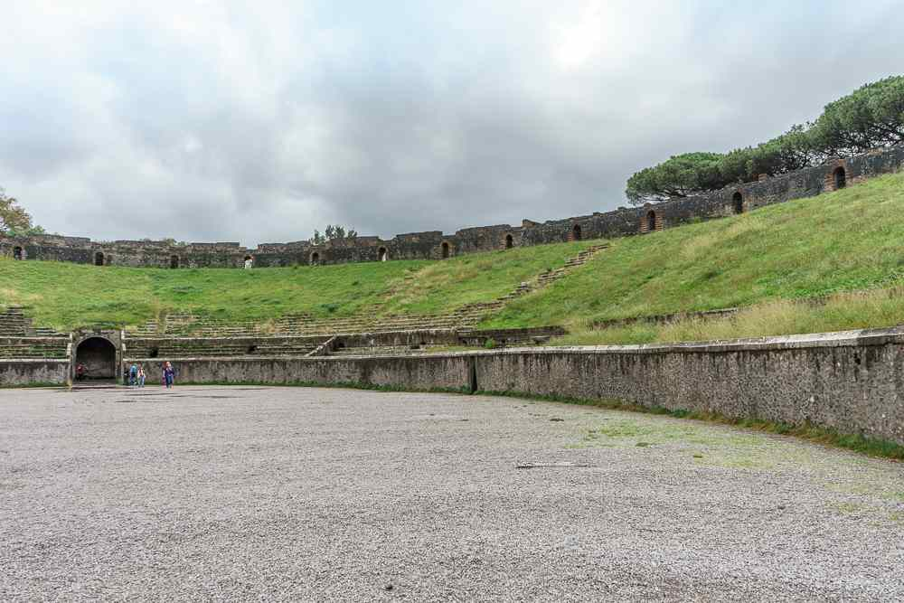 The amphitheater is a highlight of any visit to Pompeii.