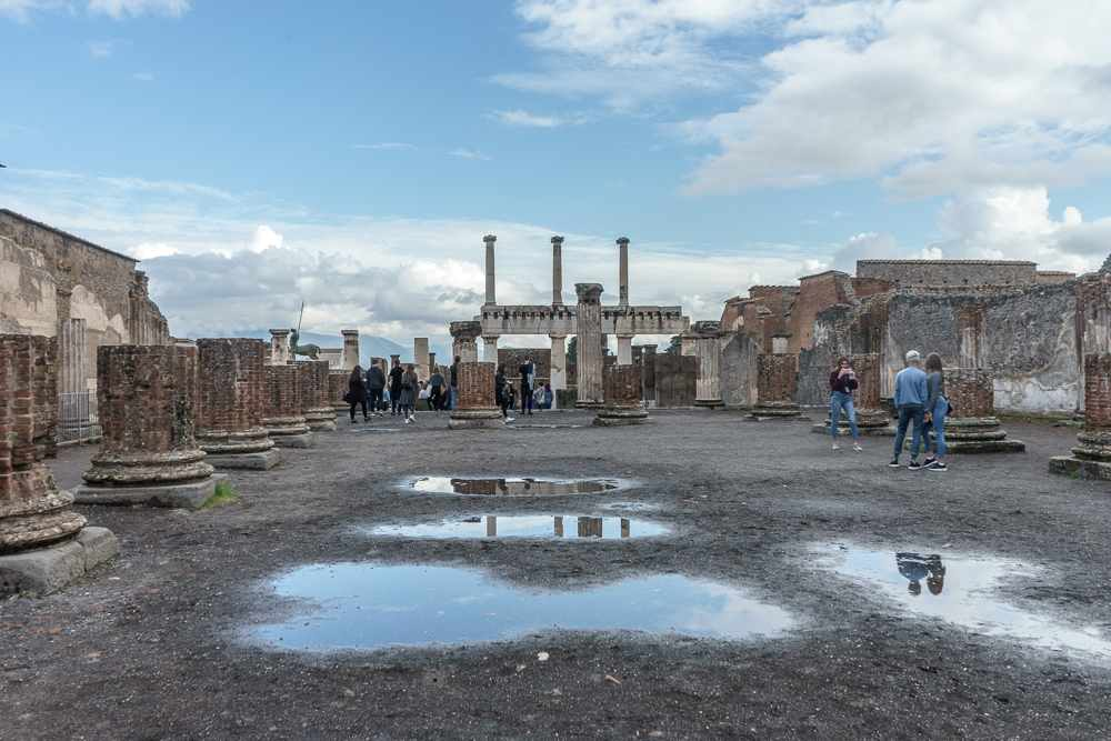 The forum is the first stop on your self-guided walking tour of Pompeii.