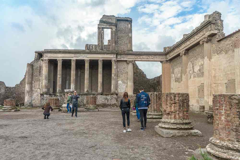 The Forum is one of the must-sees in Pompeii.