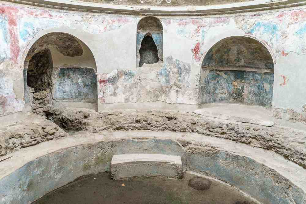 The Stabian baths are a must-see on your visit to Pompeii.