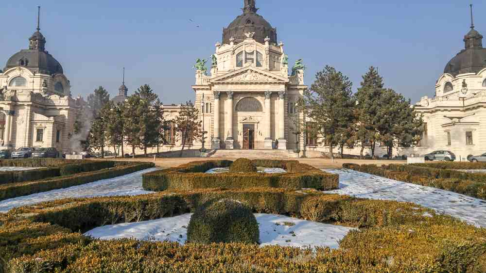 The Szechenyi Baths are beautiful from the outside, but even more fabulous from the inside.