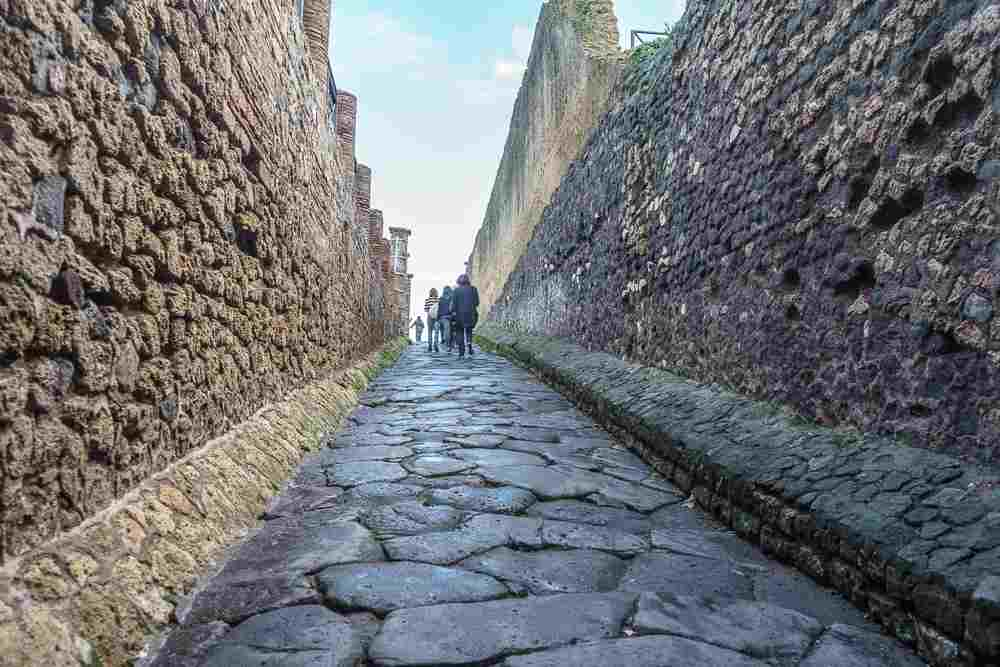 Pompeii is only a short train ride away from Naples and a perfect excursion from Naples.