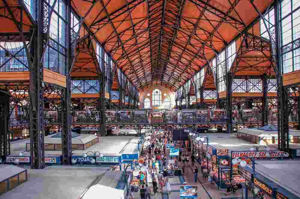 The Central Market Hall is a must see attraction while spending 2 days in Budapest