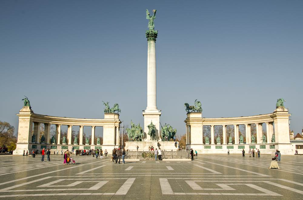 A visit to Heroes' Square is one of the best things to do during your 2 days in Budapest.