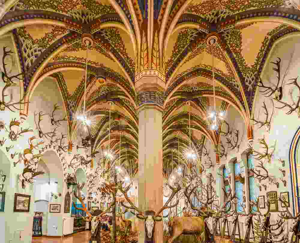 The sublime Hunting Hall in the Museum of Agriculture is one of the best things to see when sightseeing in Budapest. C: Yury Dmitrienko/shutterstock.com