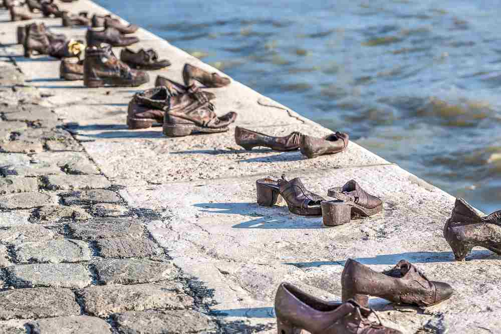 Make sure to see the poignant 'Shoes on the Danube' memorial when sightseeing through Budapest in 2 days.