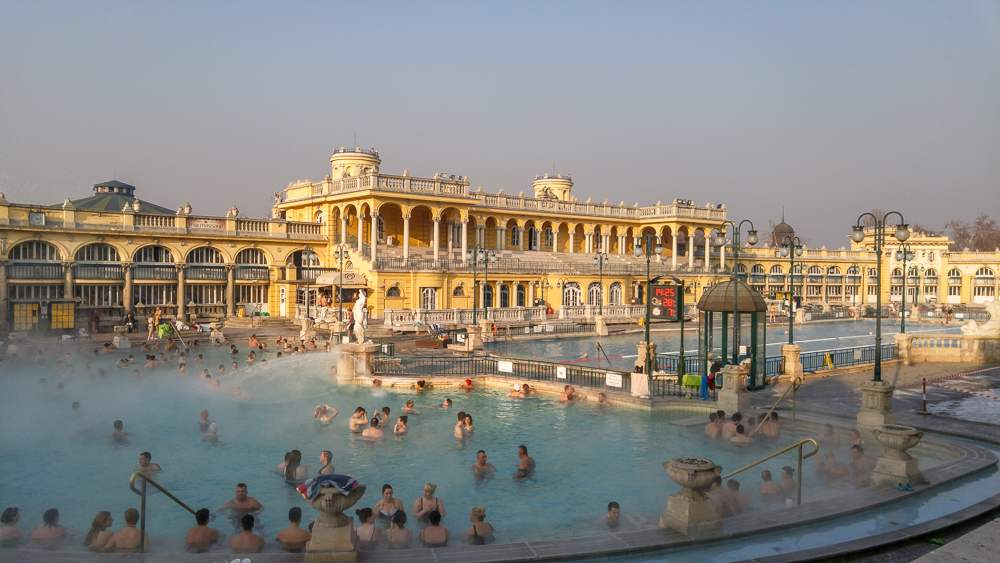 2 days in Budapest gives you plenty of time to relax in the healing waters of the Szechenyi Baths.