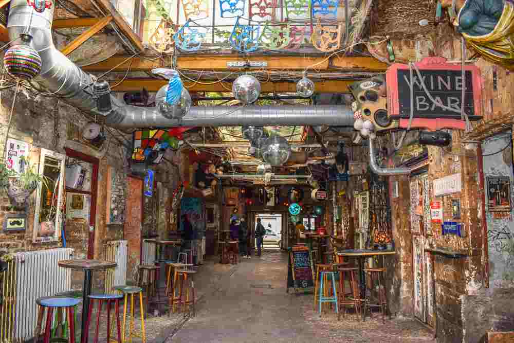Szimpla Kert is one of the best ruin pubs to visit if you're spending 2 days in Budapest. C: Highland_Loon/shutterstock.com