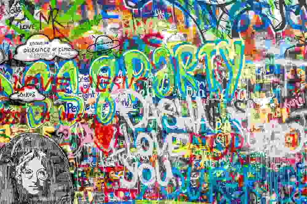 Make sure to stop by the Lennon Wall during your 2 days in Prague.