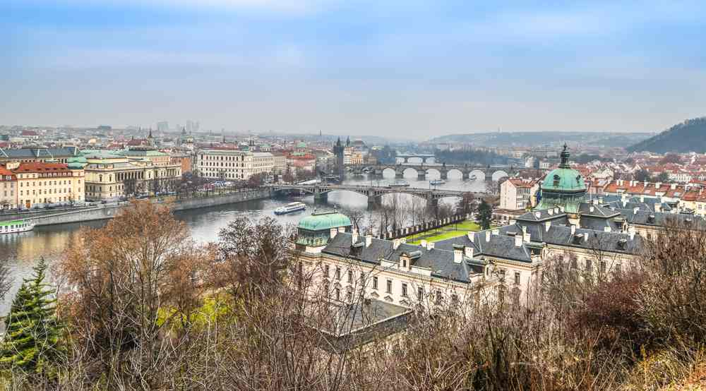 48 hours in prague gives you enough time to enjoy the views from Letna Park.