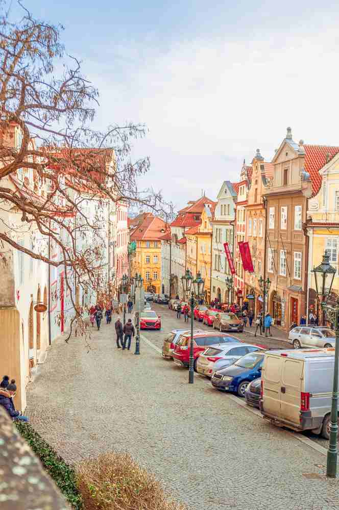 Nerudova Street is one of the most beautiful streets in Prague.