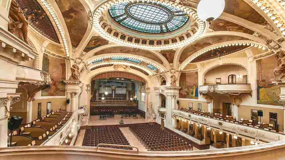Don't miss beautiful Smetana Hall during your 2 days in Prague.