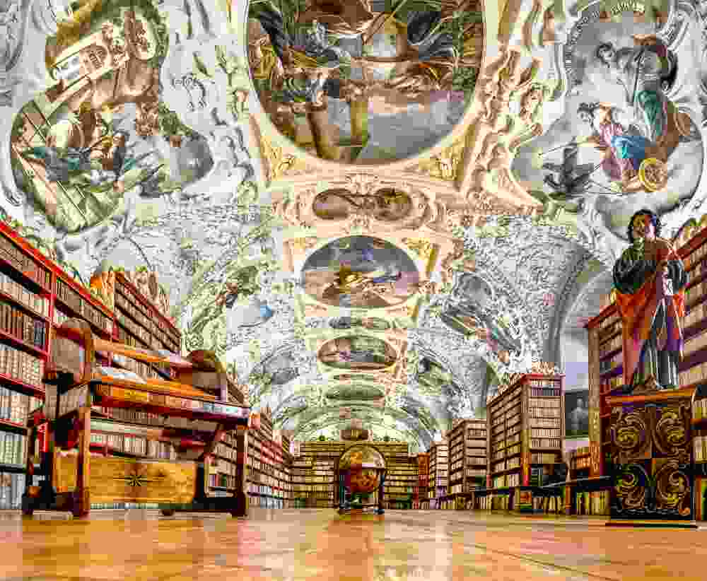 The Theological Hall at Starhov Monastery is simply stunning.