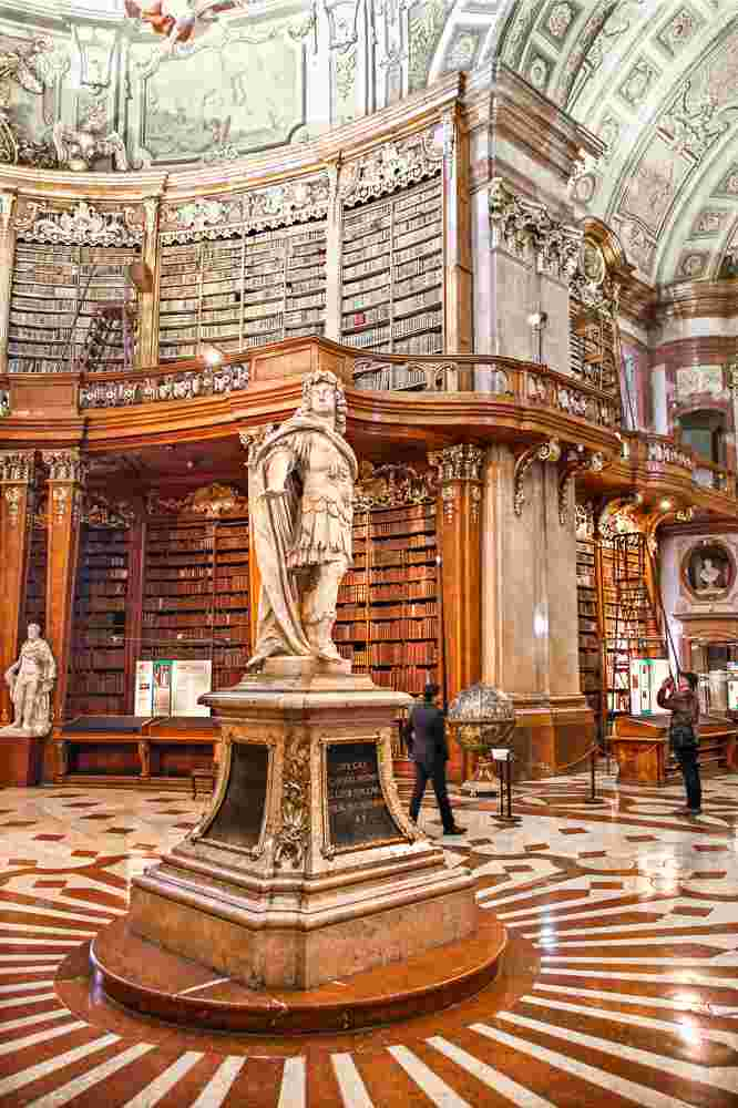 The Prunksaal at the National Library is one of the best things to see during your 24 hours in Vienna. C: Heracles Kritikos / Shutterstock.com