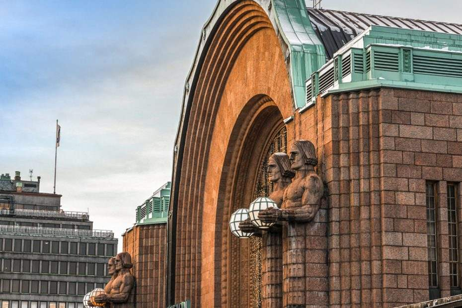 The Helsinki Central Station is the last stop on this free self-guided Helsinki walking tour.