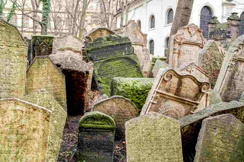 Make sure to stop by the Jewish cemetery during your day in Prague.