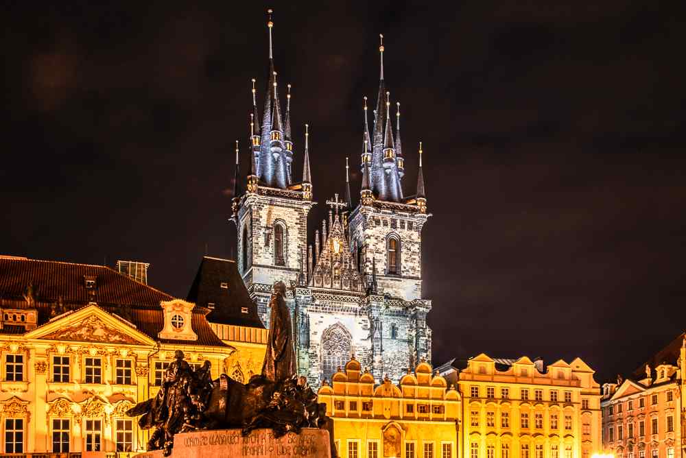 Tyn Church is a highlight during any day or night in Prague.