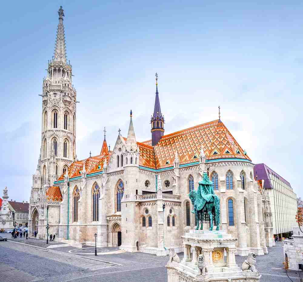 Best things to do in Budapest: Exterior of the famous Matthias Church, one of Budapest's best-known churches and one of the must-see sights in the city.