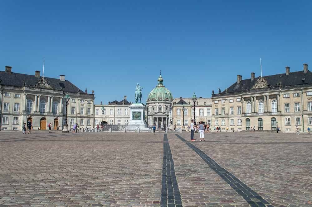 Amalienborg Palace is one of the most important stops on this Copenhagen walking tour.