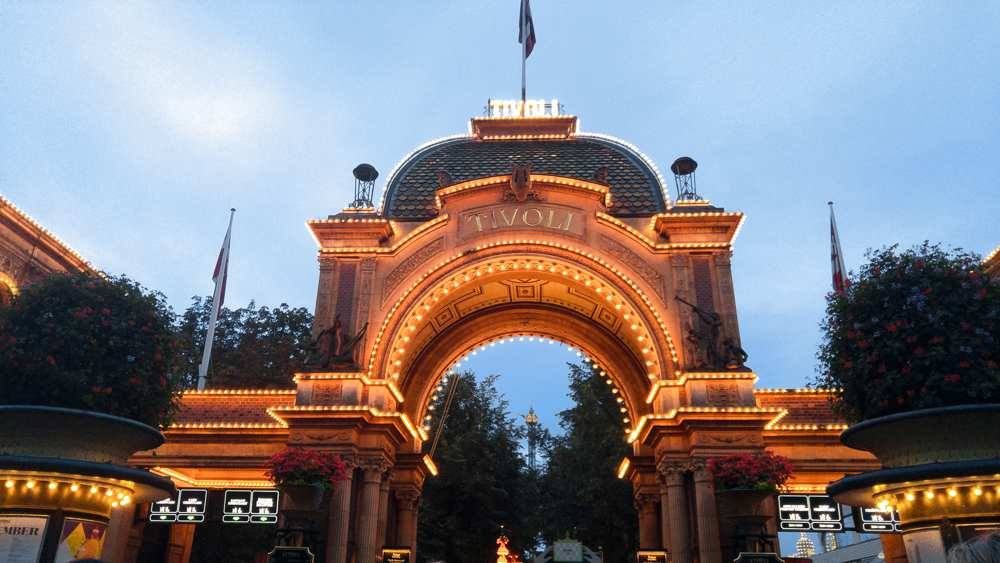 This Copenhagen walking tour will take you past Tivoli Gardens.